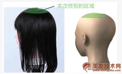 二分区锁骨发剪法技巧图解