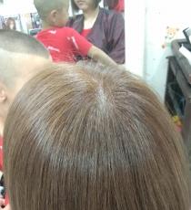 冷色系之冷棕色盖白发调配方法